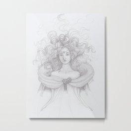 Flirting Fantail Metal Print