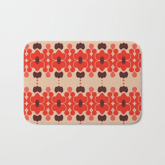 Red pattern rouge 6 Bath Mat