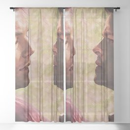 Personal space Sheer Curtain