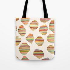watercolor geometric lines Tote Bag