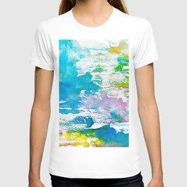 Algae and Aqua - Abstract Painting T-shirt