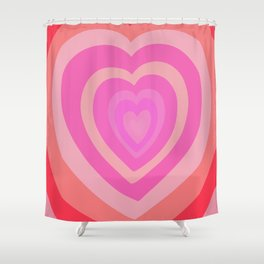 Love Me Like You Do - peach red Shower Curtain