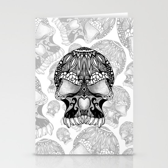 Sugar Skull.  Stationery Cards