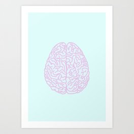 Pastel Brain Art Print