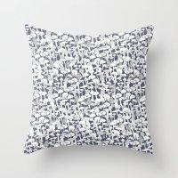 mushrooms Throw Pillows featuring Mushrooms by Julia Kisselmann