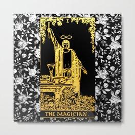 A Floral Tarot Print - The Magician Metal Print