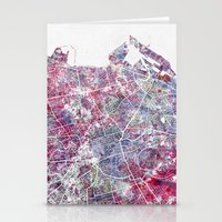 edinburgh Stationery Cards featuring Edinburgh Map by MapMapMaps.Watercolors