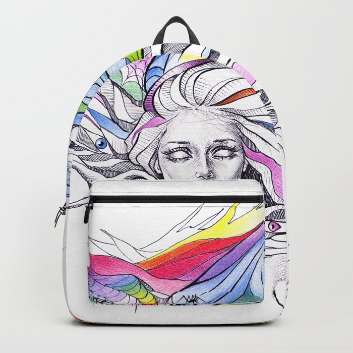 Dreams are made winding through her hair Backpack