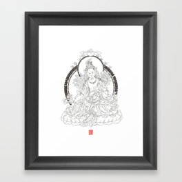 Chaktsal Dolma 21 - Prayer for 21 Tara Framed Art Print