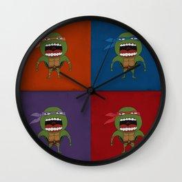 Screaming Turtles Wall Clock