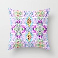 Wildflower kaleidoscope Throw Pillow