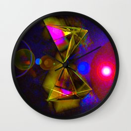 Blackhole Prism Wall Clock