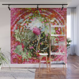 Vibrant abstract  thistle Wall Mural