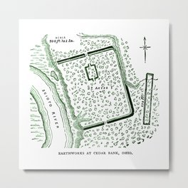 Earthworks at Cedar Bank Metal Print
