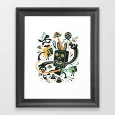 Little Black Magic Rabbit Framed Art Print