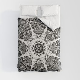 Black And White Abstract Comforters