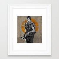daryl dixon Framed Art Prints featuring Daryl Dixon by Yan Ramirez