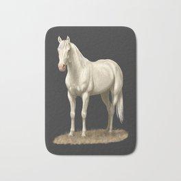 Beautiful White Cremello Horse Bath Mat