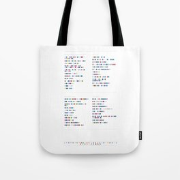 Metronomy Discography - Music in Colour Code Tote Bag