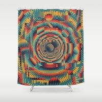 glitch Shower Curtains featuring glitch by Blaz Rojs