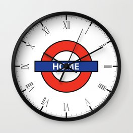 Underground Home Sign Wall Clock