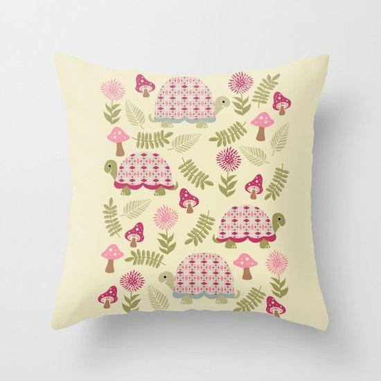 Cheerful Turtles Throw Pillow