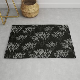 Black King Protea Rug