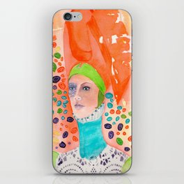 Long Neck Orange Lady iPhone Skin