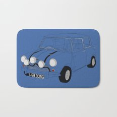 The Italian Job Blue Mini Cooper Bath Mat