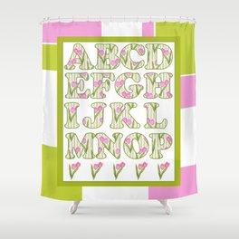 Children's alphabet . A colorful pattern for children .  № 1 Shower Curtain