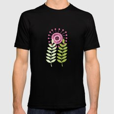 Golden Thyme and Silver Mint Mens Fitted Tee Black MEDIUM