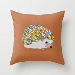 Hedgehog Sprinkles Throw Pillow