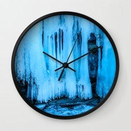 Ice curtain of the lake Baikal Wall Clock