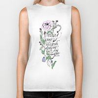 oscar wilde Biker Tanks featuring Oscar Wilde Quote  by TLG Creative