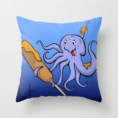 Tako Dog Throw Pillow