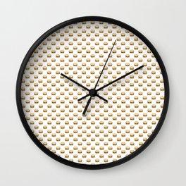 Cheeseburger Pattern Wall Clock