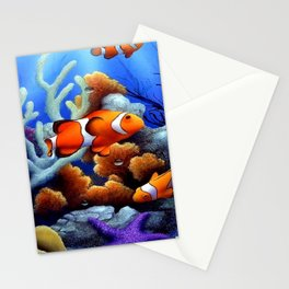 Coral Reef and Clownfish Stationery Cards