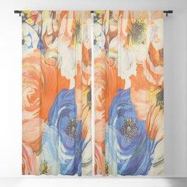 Spring Flowers Address Blackout Curtain