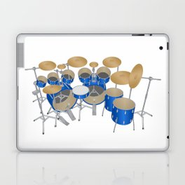 Blue Drum Kit Laptop & iPad Skin