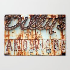 Dilly's Deli Canvas Print