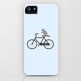 Raccoon Riding Bike iPhone Case