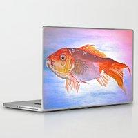 goldfish Laptop & iPad Skins featuring Goldfish by Jaime Viens