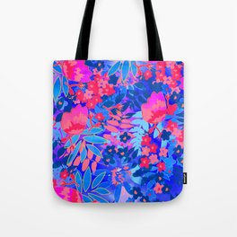 Vibrant Flower Print Tote Bag