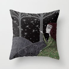 My Winter Stars Throw Pillow