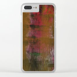 Olive Red Abstraction Clear iPhone Case