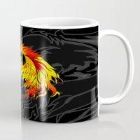 phoenix Mugs featuring Phoenix by Rishi Parikh