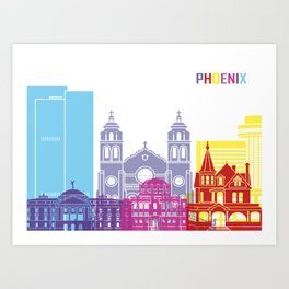 Phenix skyline pop Art Print