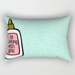 sticking with you ii Rectangular Pillow