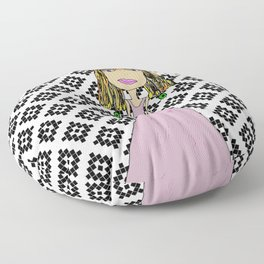 Pink Lady from Casablanca Floor Pillow