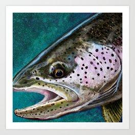 The Steelhead Trout Painting Art Print